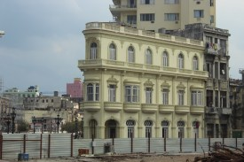 Beautiful architecture on the Havana waterfront.