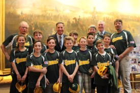 The players and coaches were congratulated by Vermont Governor Peter Shumlin at the state house.