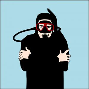 frío - señales de buceo - Cuba Blue Diving