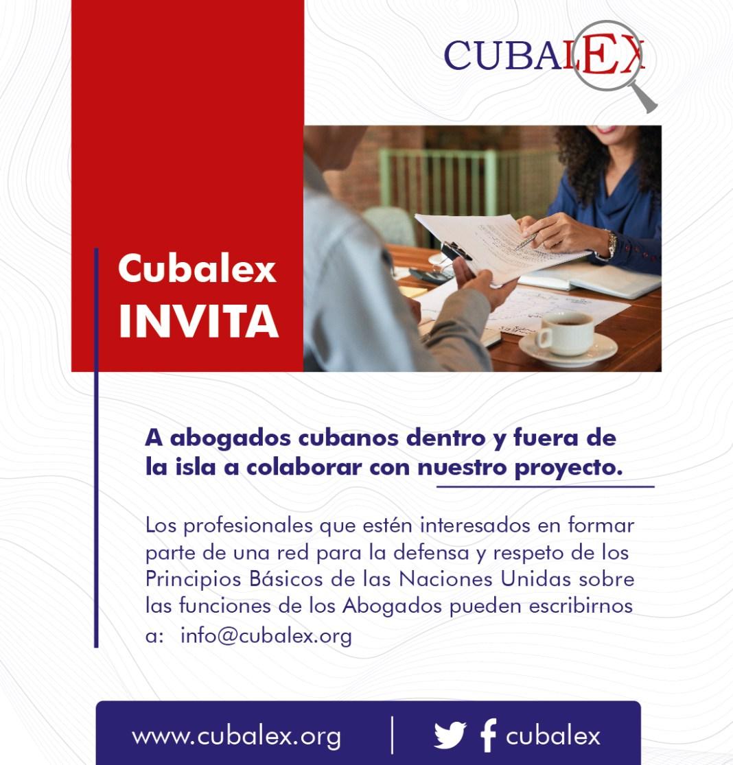 Convocatoria Cubalex