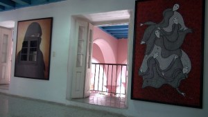 Office at the Centro Wilfredo Lam — also HQ of the Havana Bienal.