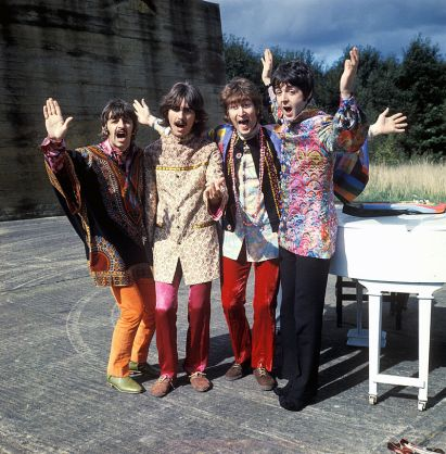 The_Beatles filming musical segment for magical_mystery_tour