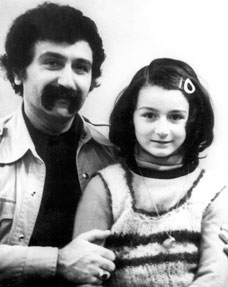 Aziza childhood days w her father Vagif