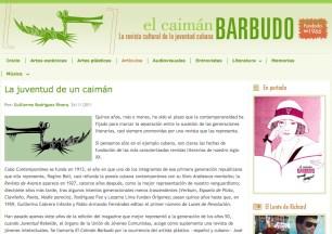 Guillermo Rodriguez Rivera y su nota acerca de las revistas cubanas El C B