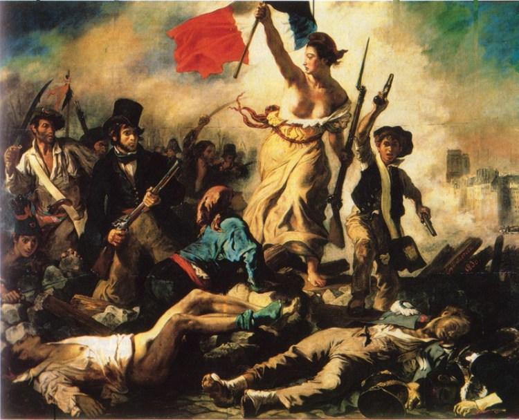 La Libertad guiando al pueblo, Eugène Delacroix (1830)