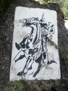 Representación de la Caida en combate de José Martí