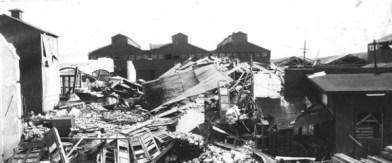 Restos de la Iglesia luego del Terremoto de 1932 en Santiago de Cuba