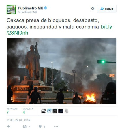 Repercusión de las manifiestaciones en México en las redes sociales