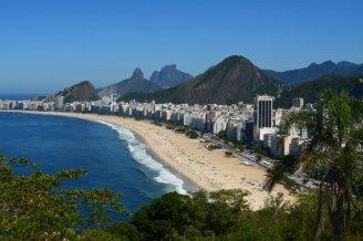 Vista de la playa Copacabana