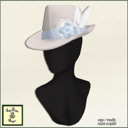 CP White Winter Fedora
