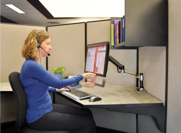Flexible Monitor Desk Mount Arm for Cubicle  Cubicle