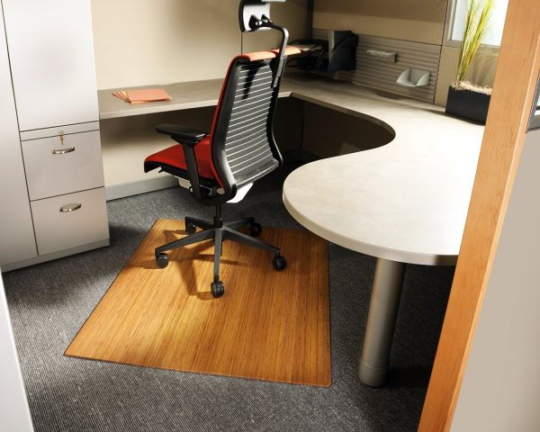 desk chair mats slip covers walmart bamboo mat cubicle decor zone