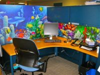 Cubicle Wallpaper - Cube Decor Zone