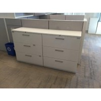 "Haworth White Lateral File Cabinet (36""W) (3 DR) 