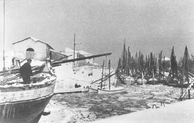 Porto di Cattolica nel 1929