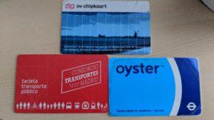 Public transport NFC cards