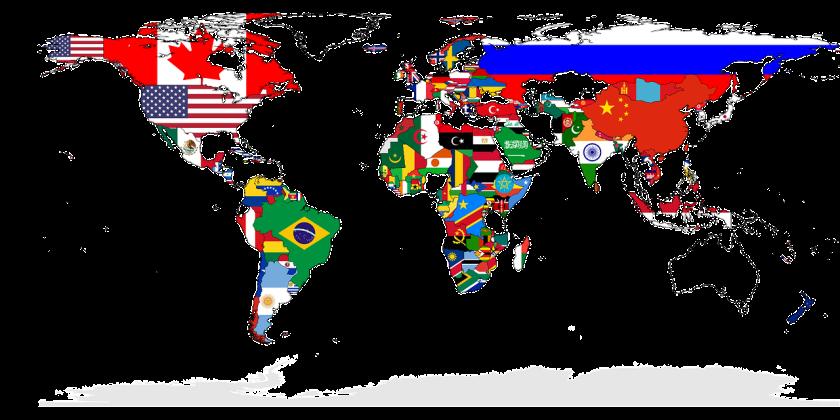 Worldmap in flags