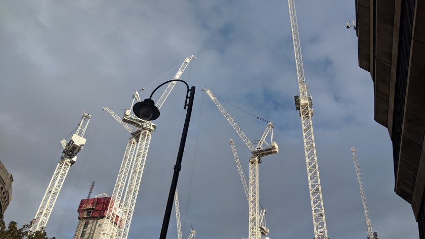 Manchester cranes at Oxford Road