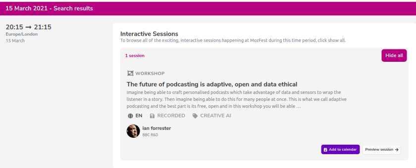 My adaptive podcasting workshop