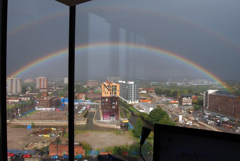Double rainbow in Islington Wharf