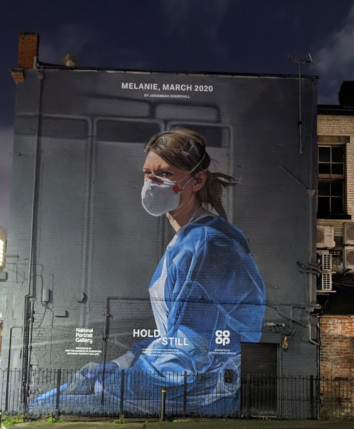 Nurse on the wall of the Northern Quarter