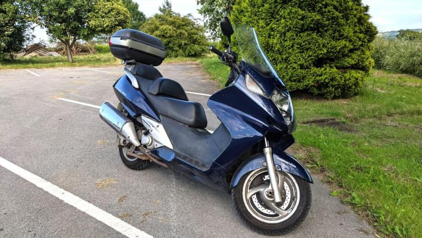My Honda silverwing ready to go