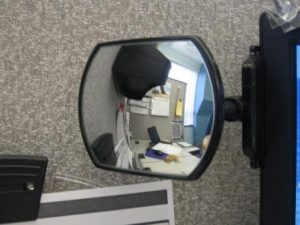 Watch your Back with a Rear View Cubicle Mirror  Cubicle