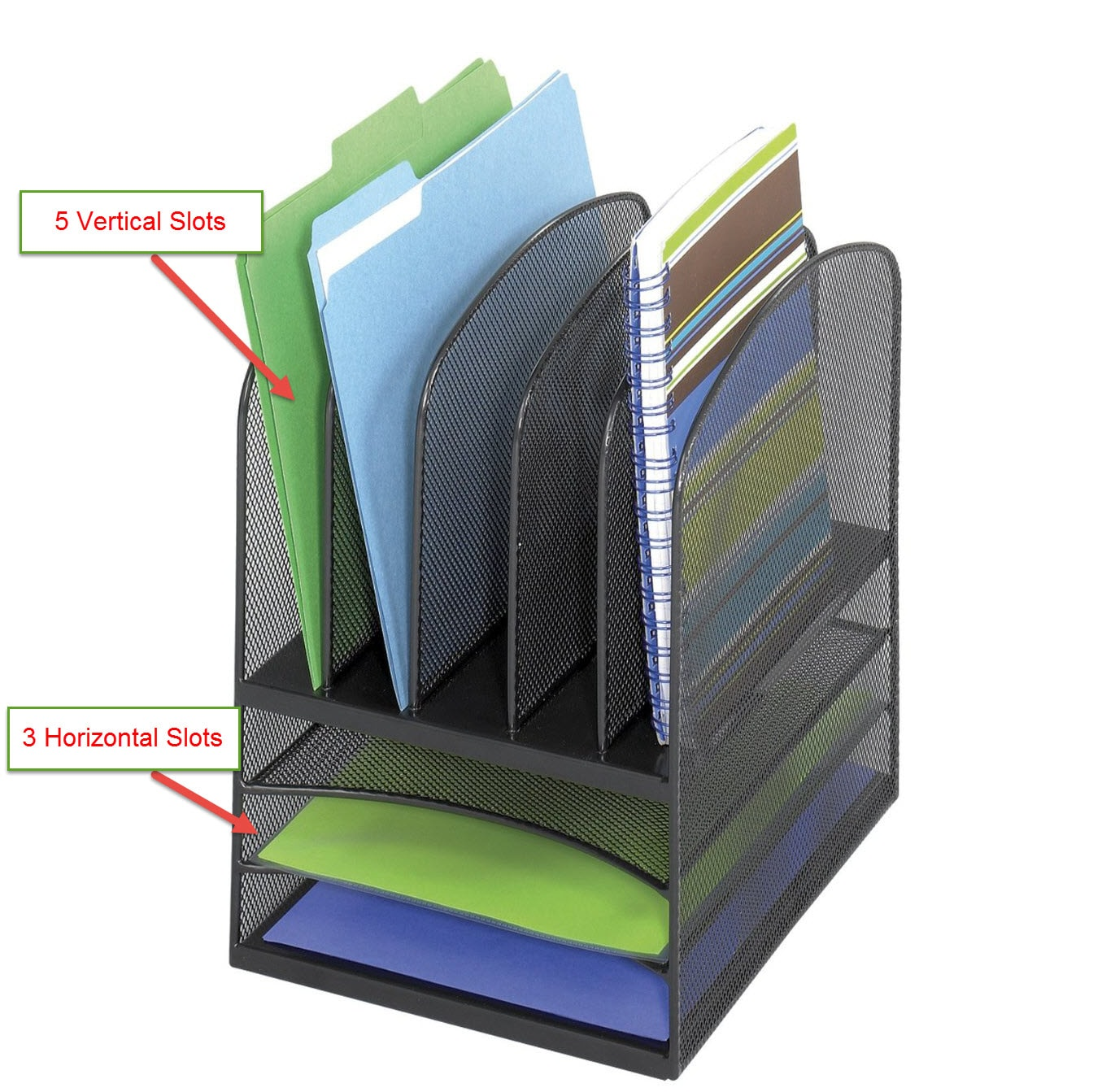 Organize a Small Space with the Safco Onyx Mesh Desk Organizer  CubicleBlisscom
