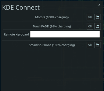 KDE Connect System Tray-Keyboard Input