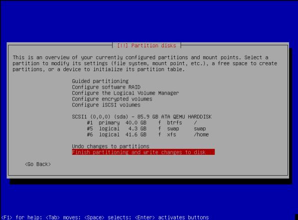 ParrotOS-17-Partition Disk Overview