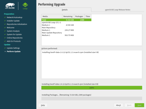 openSUSE Leap 15.1 Upgrade 11