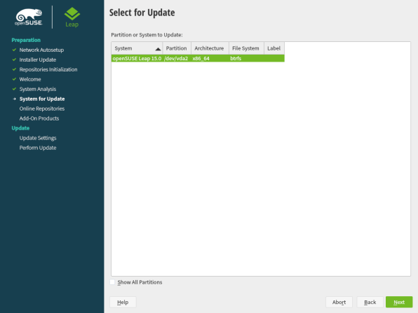 openSUSE Leap 15.1 Upgrade 3