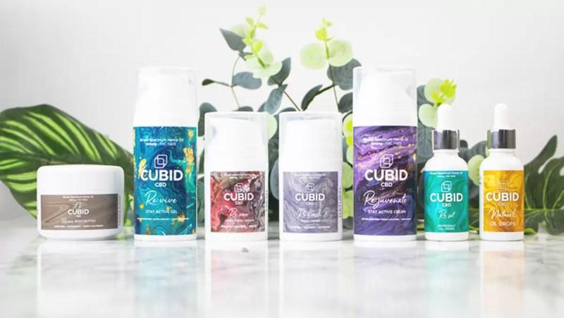 CUBID CBD skincare and oil drops