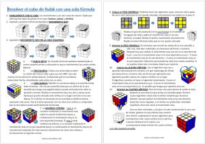 Resolver el cubo de Rubik con una sola fórmula