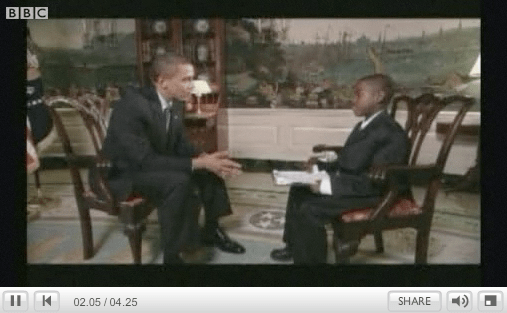Damon Weaver interviews President Obama
