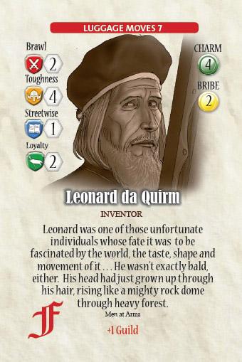 Leonard da Quirm, otro de los habitantes de Ankh Morpork