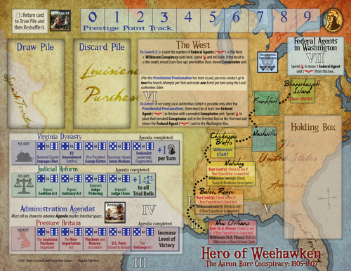 Tablero de Hero of Weehawken