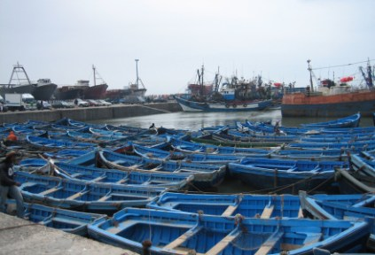 morocco-essouira-by-katie-fox-traditional-blue-fishing-boats