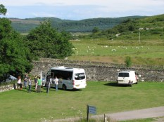 Tour Bus at Fortress of the Scots, Kilmartin Glen