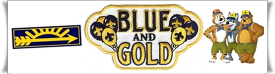 blue and gold invitation february