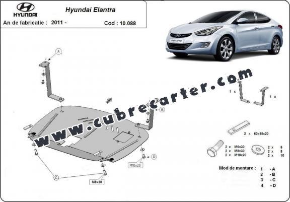 Cubre carter metalico Hyundai Elantra 2