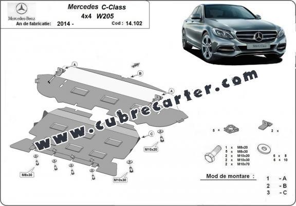 Cubre carter metalico Mercedes C-Class W205 4x4