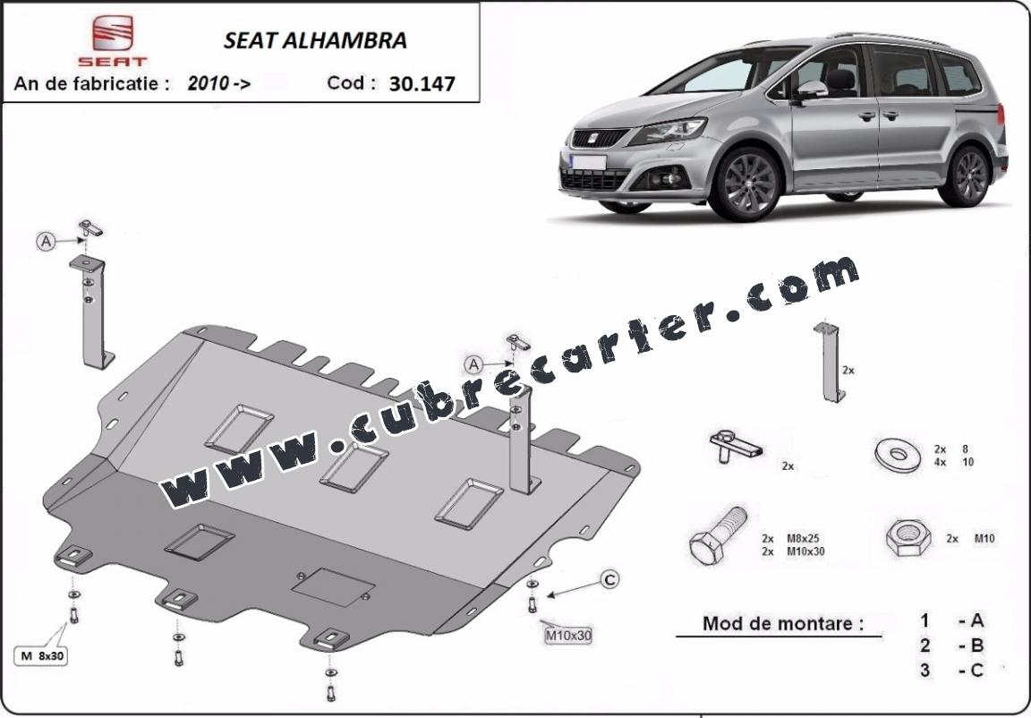 Cubre carter metalico Seat Alhambra