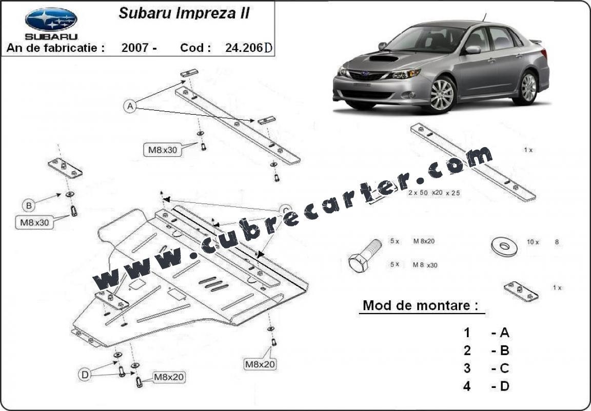 Cubre carter metalico Subaru Impreza diesel