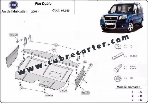 Cubre carter metalico Fiat Doblo