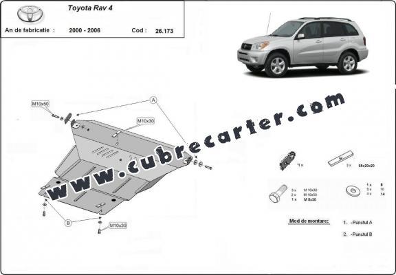 Cubre carter metalico Toyota Rav4