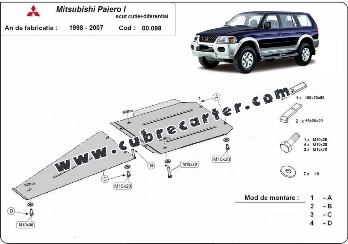 Protección de caja de cambios y diferencial Mitsubishi