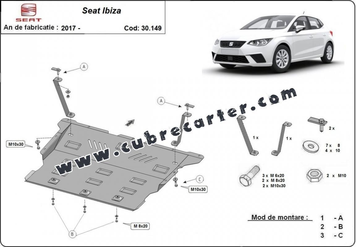 Cubre carter metalico Seat Ibiza