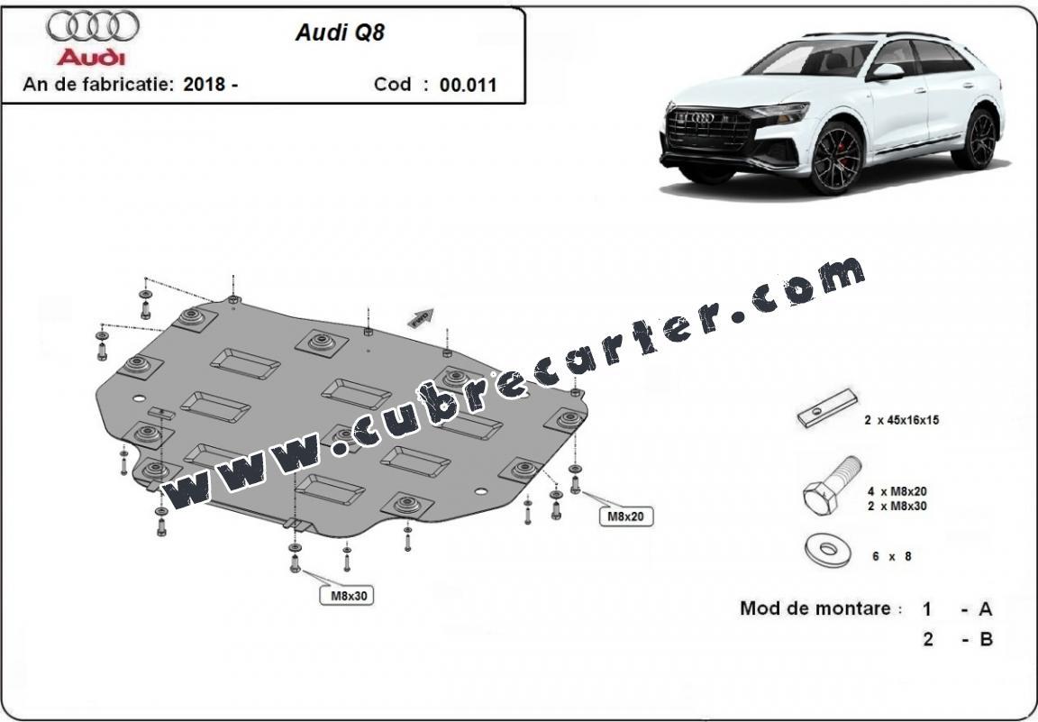 Protección del caja de cambios Audi Q8