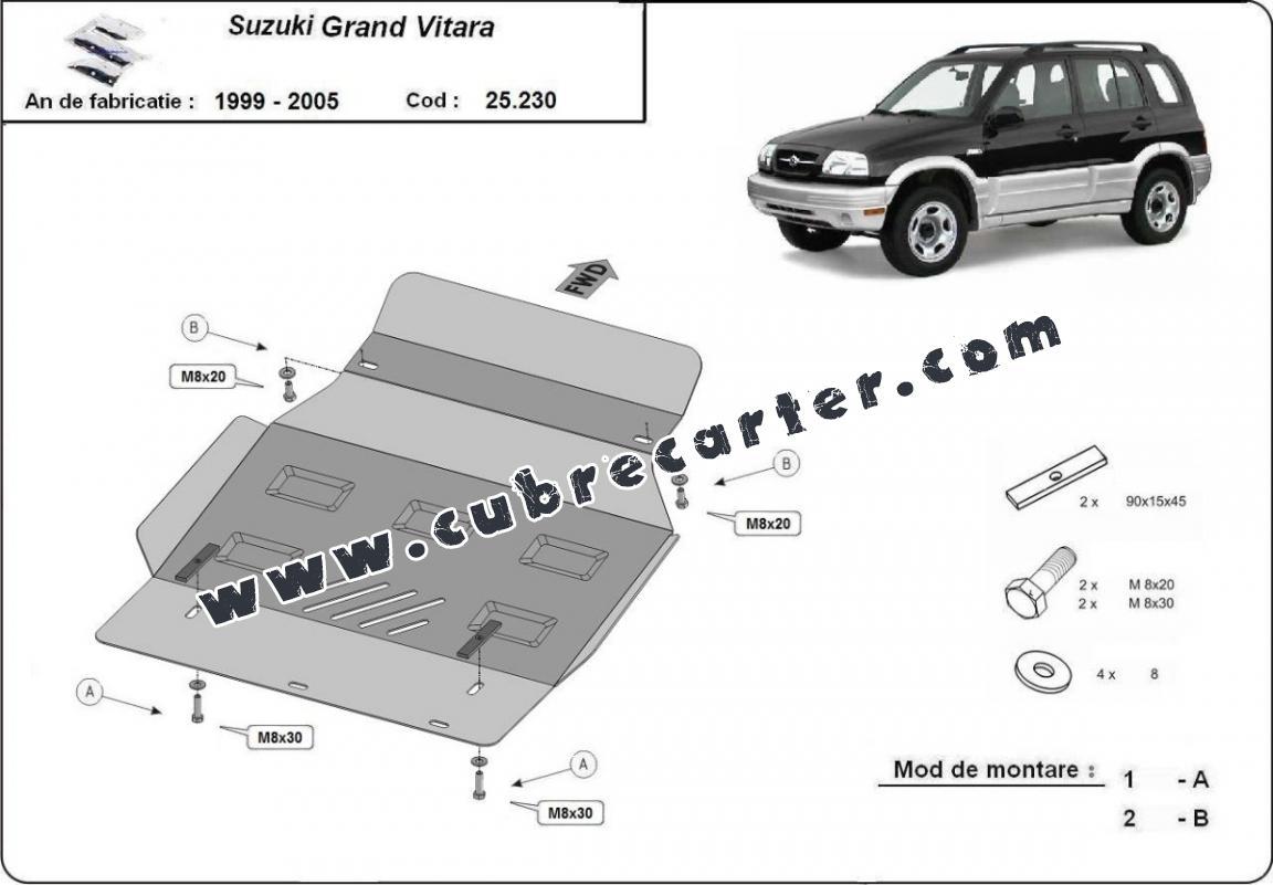 Cubre carter metalico Suzuki Grand Vitara